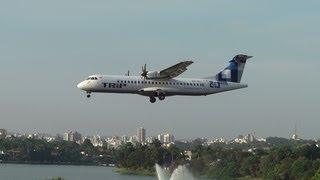 Aviões da Trip e Passaredo pousando no Aeroporto da Pampulha
