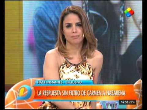 Carmen Barbieri le contestó a Nazarena Vélez