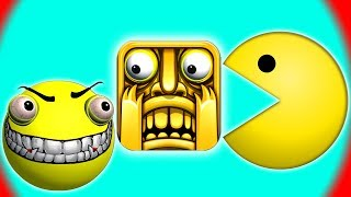 PACMAN in TEMPLE RUN !!!  ♫  3D animated  GAME mashup ☺ FunVideoTV - Style ;-))