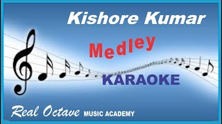 Kishore Kumar DANCE Medley KARAOKE with Eng. हिन्दी Lyrics Scrolling [ PARTY SONGS ]