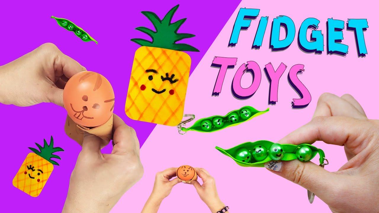 3 DIY Fidget Toys Ideas - Viral TIKTOK Fidget Toys Videos / HOW TO MAKE FIDGET TOYS