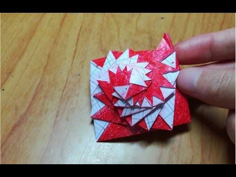 How To Make Single Strip Square Curlicue Origami Instruction Youtube