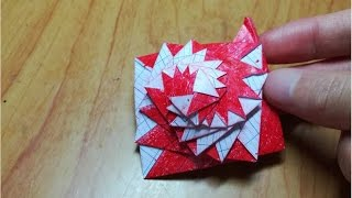 How To Make Single Strip Square Curlicue - Origami Instruction
