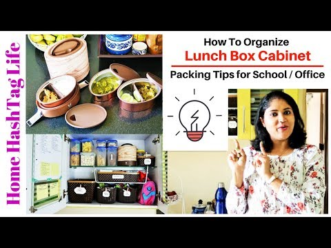 Lunch Box & Snacks Box Cabinet Organization! Kitchen Cabinet Organization | Home HashTag Life