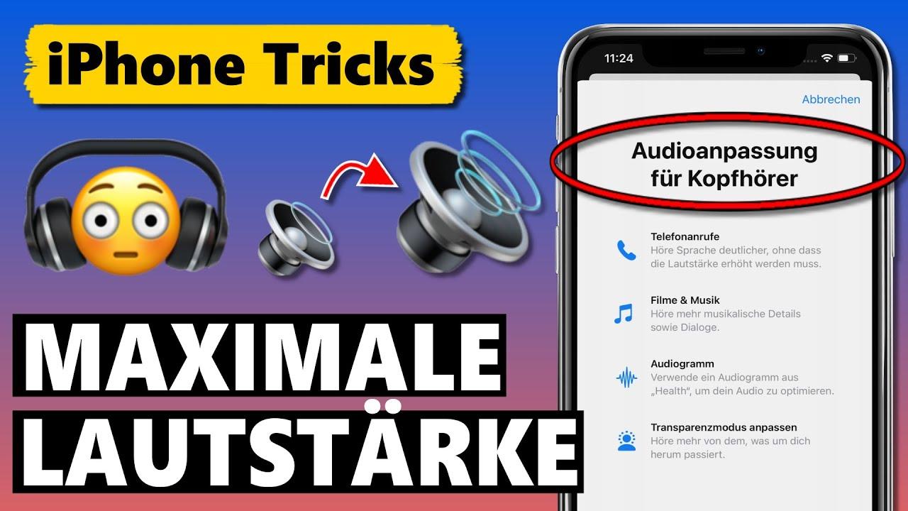 AirPods Lautstärke ERHÖHEN 🎧🔊 (AirPods Pro/Max/2, EarPods, Beats Kopfhörer)