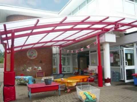 Steel Canopies Walkways and Playground Shelters for Schools & Steel Canopies Walkways and Playground Shelters for Schools - YouTube