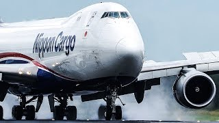 RAINY BOEING 747-8 LANDING - ASKCargo 005#