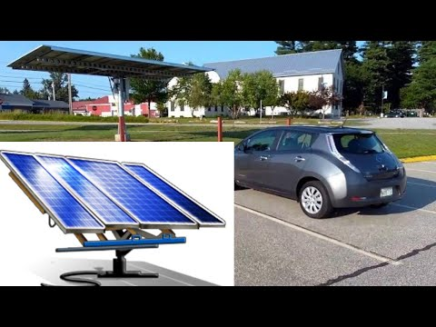 SOLAR POWERED ELECTRIC CHARGE STATION at OHCHS South Paris ME  Level 2 EV Charging