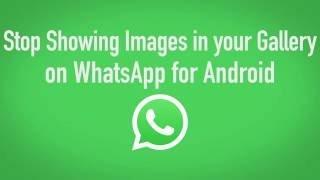 How To Stop Whats App Images From Showing In Your Gallery Android Only