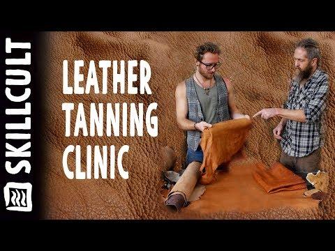 Hide Tanning Clinic, Oak Bark Tanned Deer, Squirrel & Goat Skins