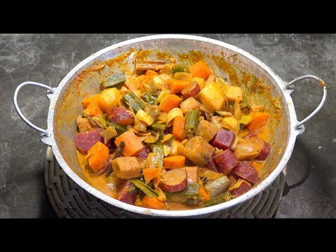🔴 Vegetable Curry - Sri Lankan Veg Curry - Vegan Recipes - Amazing Coconut Veg Curry