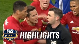 Manchester United's Herrera Picks Up His 2nd Yellow Vs Chelsea | 2016-17 FA Cup Highlights