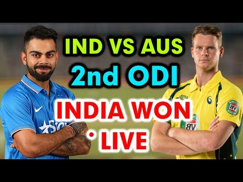 Live Match : India vs Australia 2nd ODI ll IND 253 - Run ll LIVE Cricket Score Aus 182/9