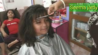 Baby Blunt Cut full tutorial/ рдмрдЪреНрдЪреЛрдВ рдХреЗ рдмрд╛рд▓ рдХреИрд╕реЗ рдХрд╛рдЯреЗЁЯТЗ/How to cut medium length to short hair cut