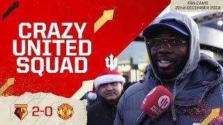 PLAYERS NEVER LEFT THE BUS! Watford 2-0 Manchester United | Premier League Fan Cam,