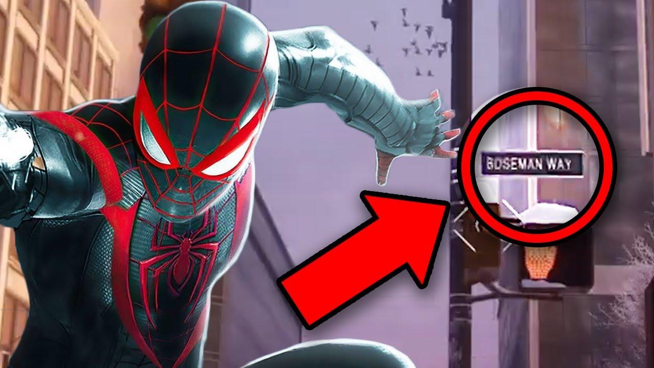 SPIDER-MAN MILES MORALES Easter Eggs & Hidden Details You Missed! (PS4 / PS5 Game 2020)
