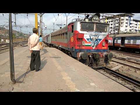 12519 Mumbai (LTT) Kamakhya AC express arriving at Kalyan