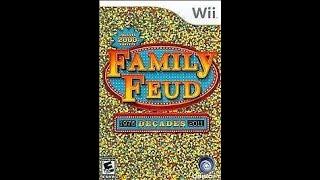 Nintendo Wii Family Feud Decades 3rd Run Game #2