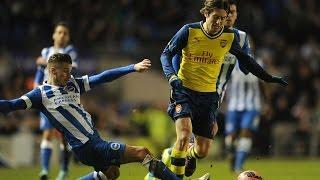 Brighton vs Arsenal 2-3 2015 - All Goals & Match Highlights 25/01/2015 ◄ High Quality