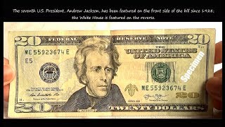 United States New Twenty Dollar ( $20 ) bill Features & Security