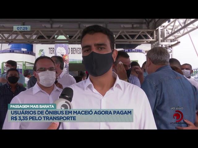Passagem mais barata: Usuários de ônibus em Maceió agora pagam R$ 3,35 pelo transporte