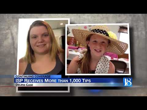 More than 1,000 tips received since Monday's update to the Delphi murders