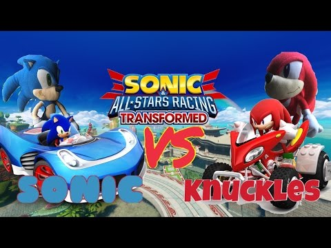 Sonic VS Knuckles - Sonic & All Stars Racing Transformed MATCH!!