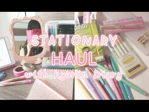 ASIAN STATIONARY HAUL ; MUJI? MILDLINER? // Kyurin Diary