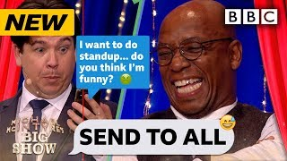 Ian Wright's mates text pranked in Send To All!  | Michael McIntyre's Big Show - BBC