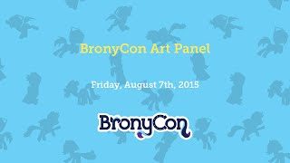 BronyCon Art Panel