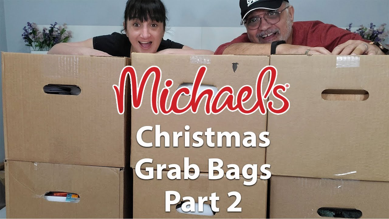 Michaels Christmas Grab Bags Unboxing Part 2   January 2021   6 Boxes