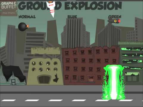 Animated ground explosions - 2D Game Assets for Indie Game Development
