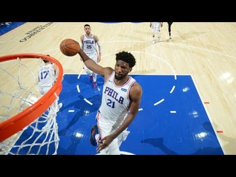 Joel Embiid Windmill! 29 Points 16 Rebs 3 Blocks! 2017-18 Season