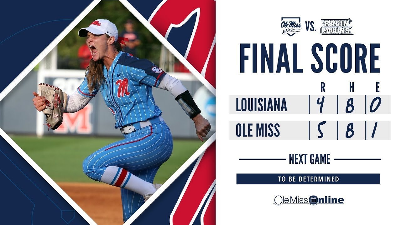 Download HIGHLIGHTS   Ole Miss Softball defeats Louisiana 5 - 4 (Game 7) 5/19/19 #FinsUp #WAOM