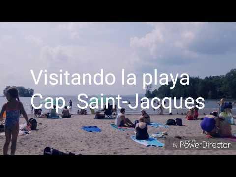 Como es una playa en Montreal. Visitando Cap. Saint-Jacques.