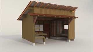 Sketchup animation of a vegetable stand in Yokohama, Japan