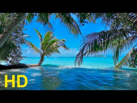 Relaxing Beach - Pan Flute Music and  Nature