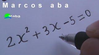 Equação do segundo grau - matemática thumbnail
