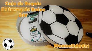Como hacer una caja de Regalo en forma de balon futbol DIY