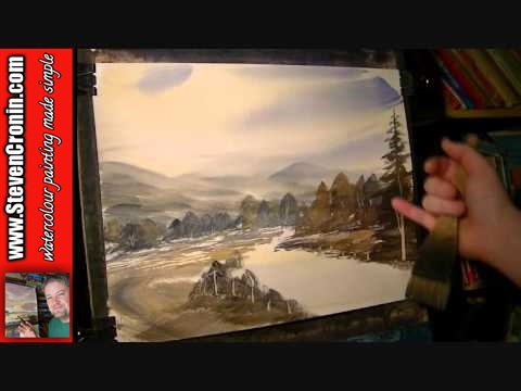 Buckland-in-the-Moor Watercolour Landscape Painting Demonstration Part 2 of 2