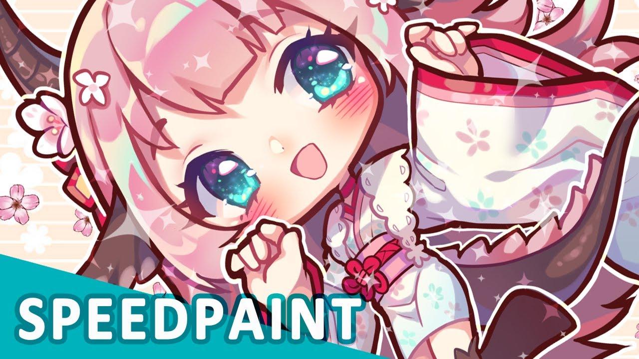 【Speedpaint】Sakura Dragon (Clip Studio Paint)
