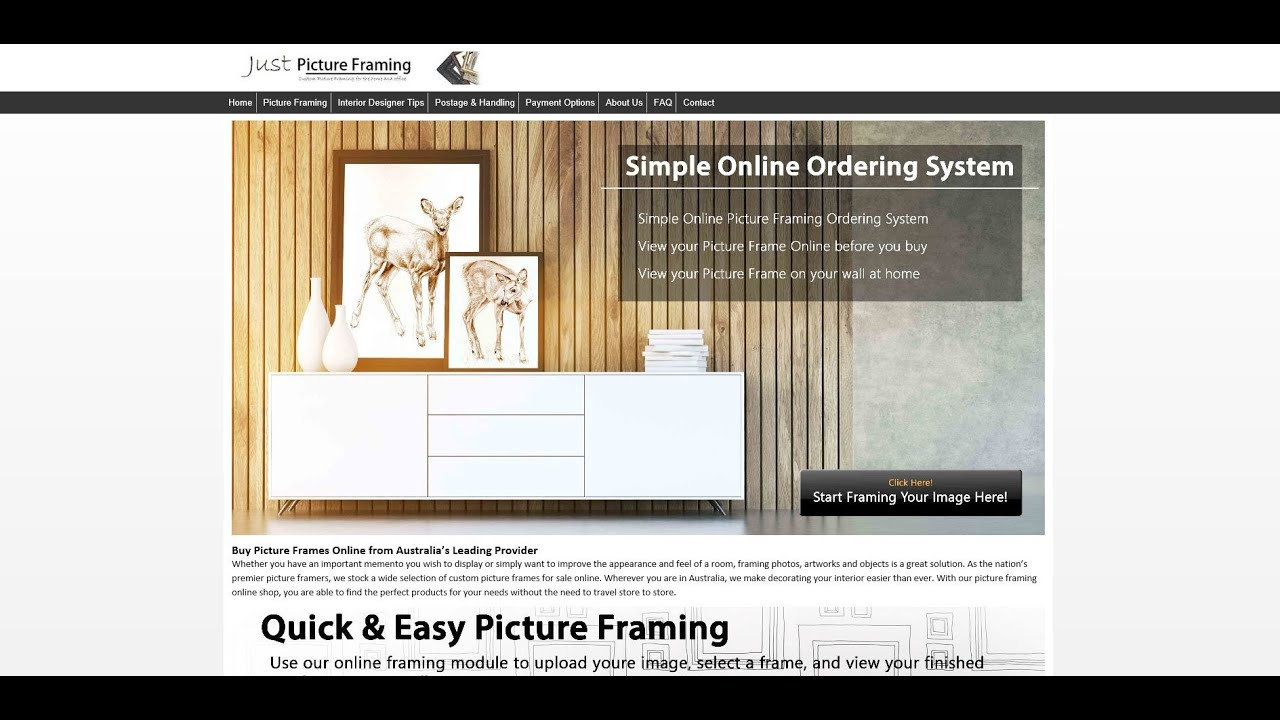 Just Picture Framing Ordering A Picture Frame Online Youtube