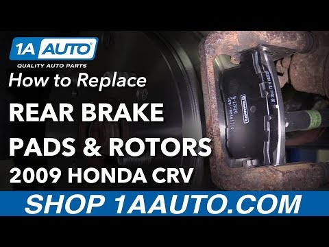 How to Replace Rear Brakes 07-11 Honda CR-V