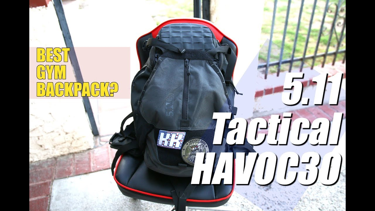 f06de0f8ae 5.11 Tactical HAVOC 30 Backpack Review - BEST GYM BACKPACK - YouTube