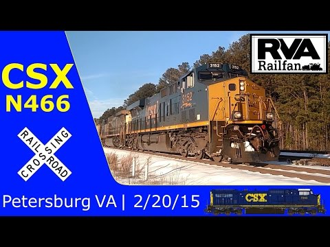 CSX N466 in Petersburg VA 2/20/15
