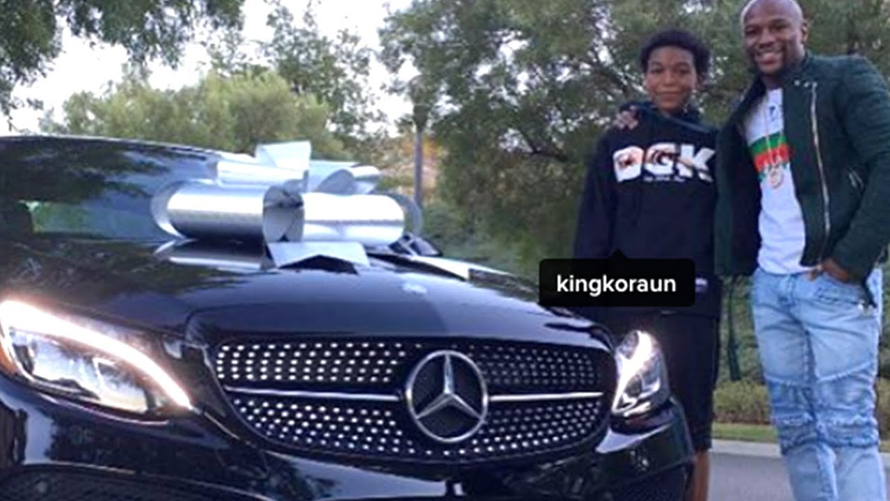 Floyd Mayweather Buys 16-Year-Old Son New Mercedes Benz Car - YouTube