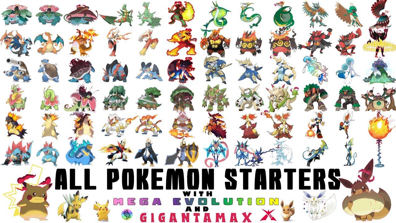 All 59 Legendary Pokemon Mega & Gigantamax Animated Evolution 2021