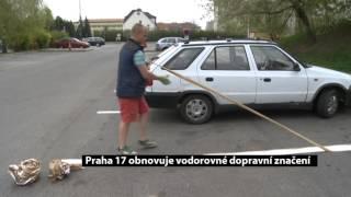 Praha 17 obnovuje vodorovné dopravní značení