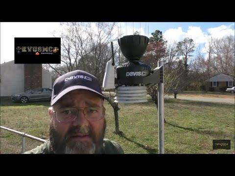 Davis Vantage Pro 2 Part # 6462 Spiked Rain AeroCone  Rain Collector Install By KVUSMC
