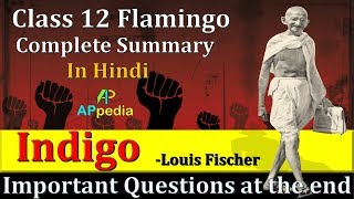 Indigo | CH-5 | 👇👇 Important Questions PDF in description | Class 12th | Flamingo